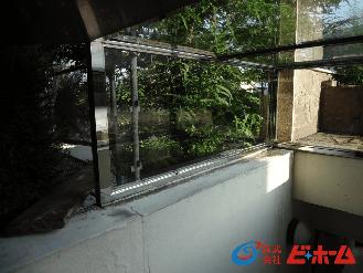ガラスの再生施工