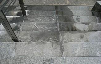 商業施設石階段施工前