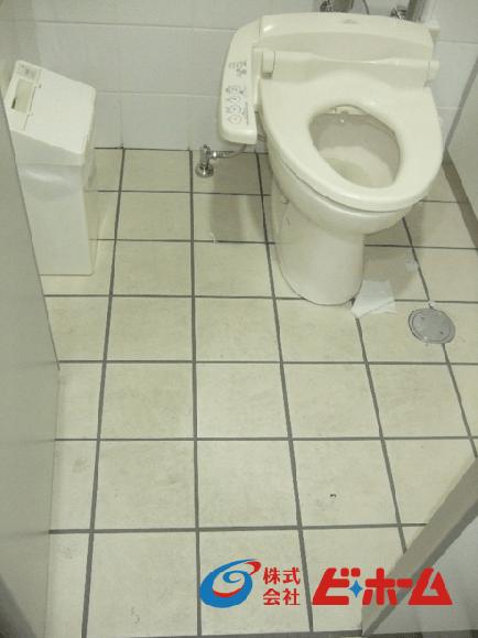 トイレ床タイル防汚コート